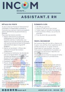 INCOM renforce son service RH